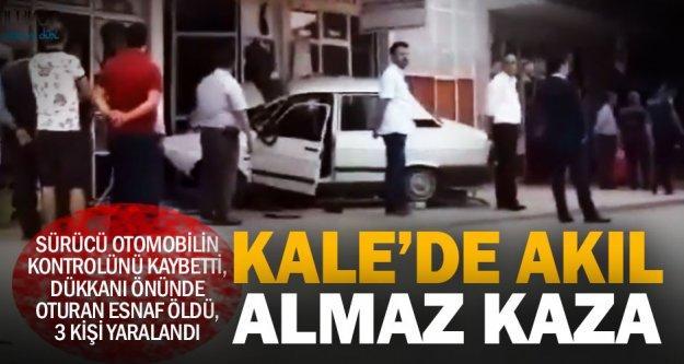 Kale'de akıl almaz kaza: Dükkanı önünde oturan esnaf öldü, 3 kişi yaralandı