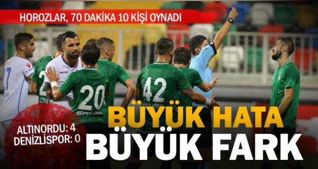 Önemli hatalar yapan Denizlispor, Altınordu'ya 4-0 yenildi