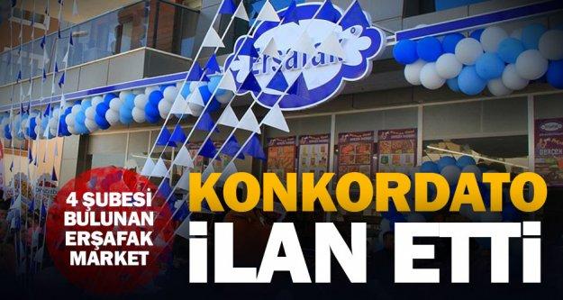 4 şubeli Erşafak Market konkordato ilan etti