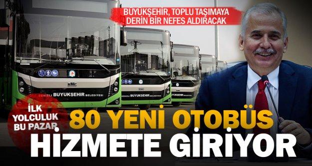 80 yeni otobüs hizmete giriyor