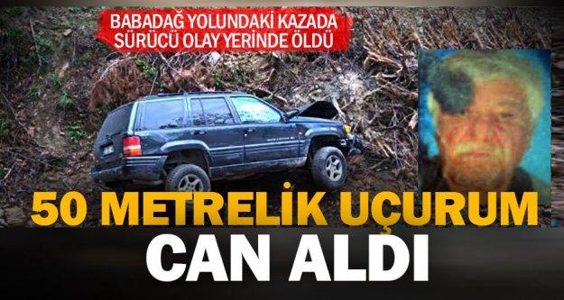 Babadağ'daki kazada bir kişi öldü