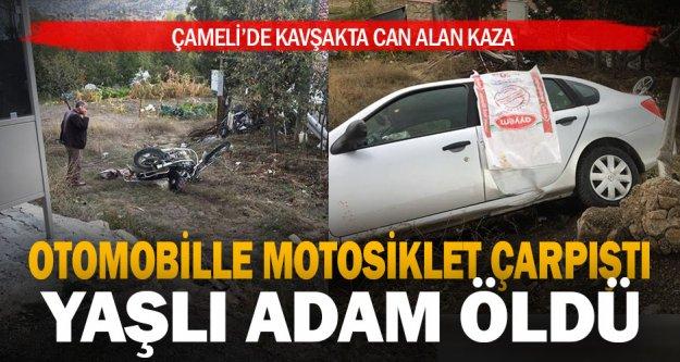 Çameli'de motosiklet ile otomobil çarpıştı: 1 ölü