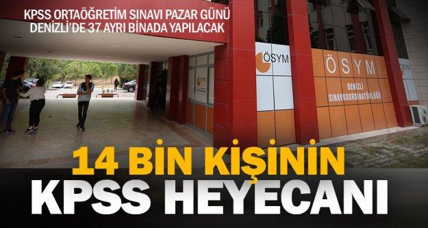 Denizli'de 14 bin aday KPSS'ye girecek