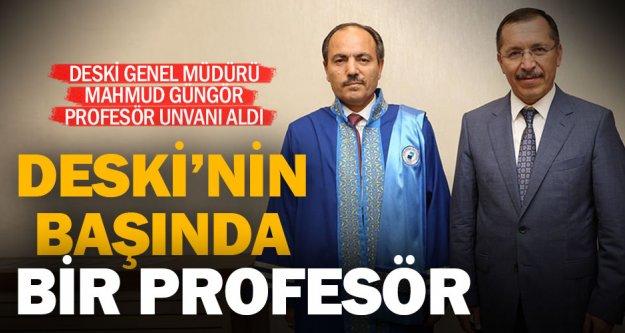 DESKİ'nin başındaki profesör