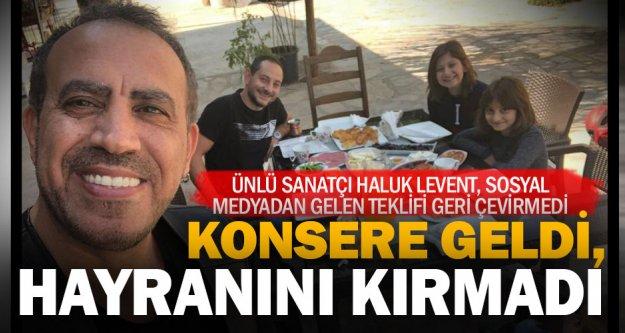 Haluk Levent, Denizlili hayranıyla kahvaltı yaptı