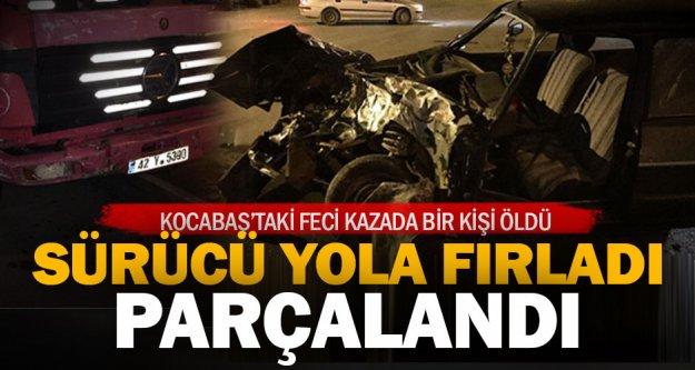 Kocabaş'ta feci kaza: Otomobil sürücüsü öldü