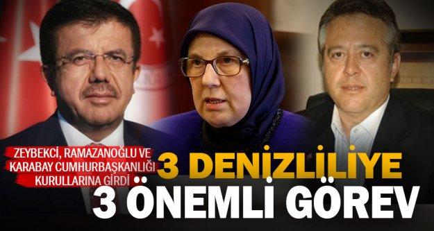Zeybekci, Ramazanoğlu ve Karabay'a önemli görev