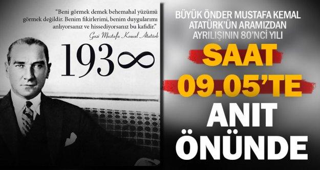 10 Kasım törenleri Valilik önündeki Atatürk Anıtı'nda