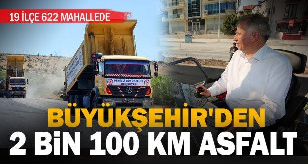 Büyükşehir'den 2 bin 100 kilometre asfalt