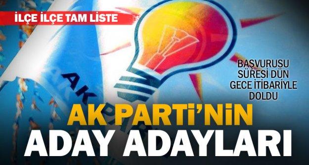 Denizli'de Ak Parti'ye başvuran aday adaylarının tam listesi