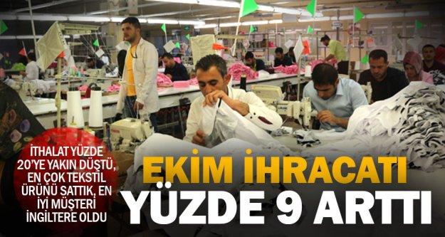 Denizli'nin ihracatı yüzde 9 arttı, tekstil yine birinci sırada