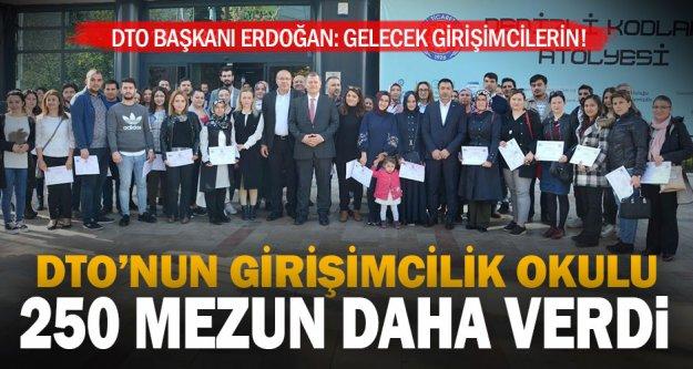 Her yıl 2 bin kişiye girişimcilik eğitimi veren DTO, Türkiye'de birinci