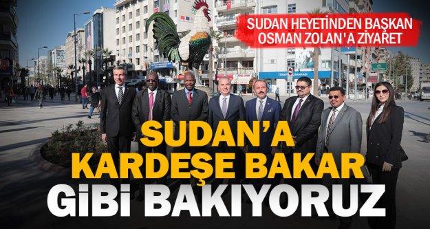 Sudan heyetinden Başkan Osman Zolan'a ziyaret