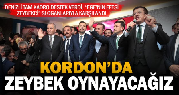 Zeybekci'ye İzmir'de miting gibi karşılama