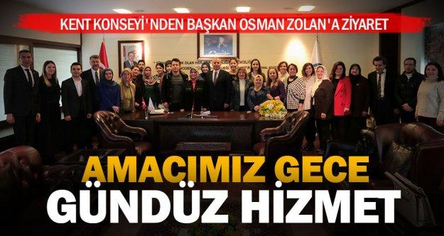 Başkan Zolan: 'Amaç millete hizmet etmek'
