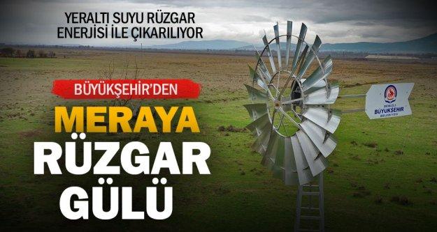 Büyükşehir'den Acıpayamlı üreticilere rüzgar gülü desteği