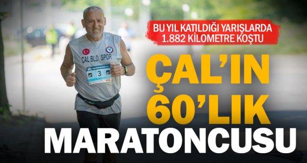 Çal'ın 60'lık maratoncusu 1 yılda 1882 km koştu
