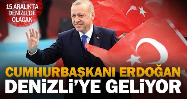 Cumhurbaşkanı Erdoğan, nikaha katılmak için Denizli'ye geliyor