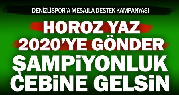 Denizlispor'dan SMS kampanyası