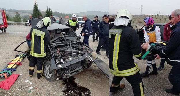 Karakurt'taki kazada iki kişi yaralandı