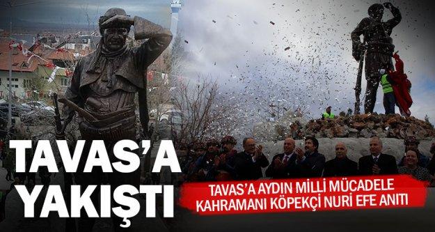 Tavas'ın kapısına Köpekçi Nuri Efe anıtı