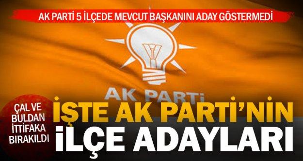 Ak Parti'nin ilçe adayları açıklandı