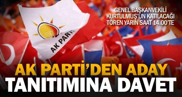 Ak Parti'nin ilçe adayları Pazar saat 14.00'te açıklanacak