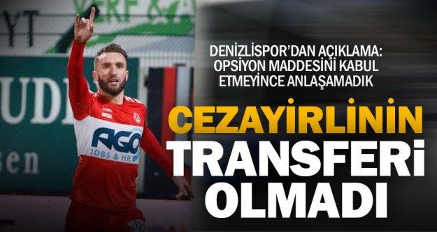 Denizlispor Cezayirli kanat oyuncusu Ouali ile anlaşamadı