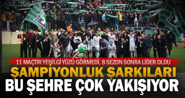 Denizlispor'da liderlik sevinci