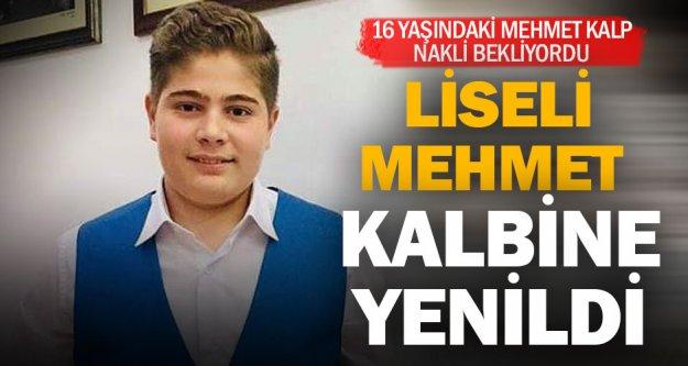 Liseli Mehmet kalp krizinden öldü