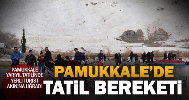 Pamukkale'de yarıyıl bereketi