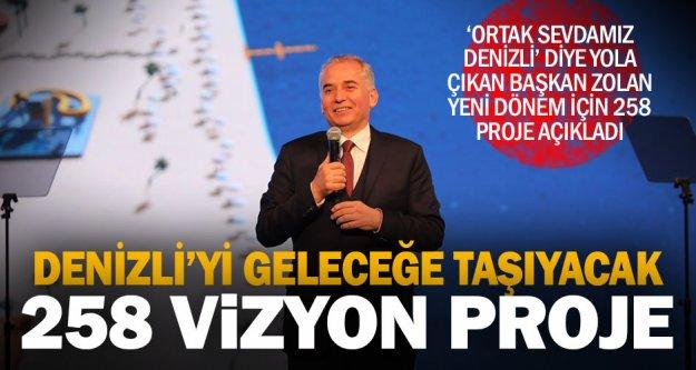 Başkan Zolan, gelecek 5 yıl için 258 vizyon proje açıkladı