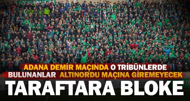Bloke edilen Denizlispor taraftarı Altınordu maçına giremeyecek