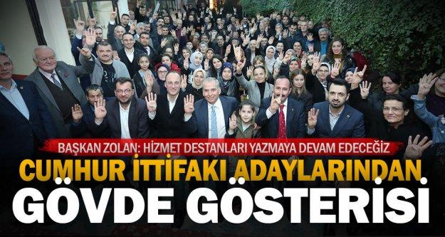 İncilipınar ve Hacıkaplanlar'da Cumhur İttifakı'na yoğun ilgi