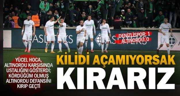 Stresli maç Denizlispor'un: Denizlispor-Altınordu: 1-0