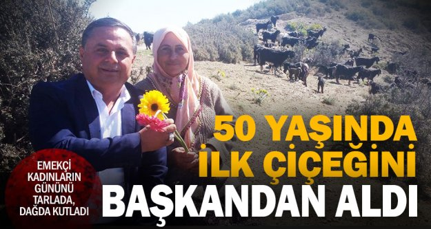 50 yaşındaki kadın, hayatının ilk çiçeğini aldığını söyledi