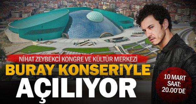 Büyükşehir'den dev merkezin açılışına özel Buray konseri