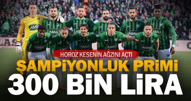 Denizlispor'da şampiyonluğa 'Süper' prim