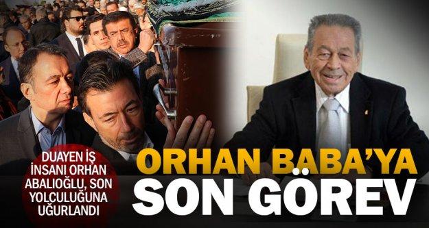 Duayen iş insanı Orhan Abalıoğlu son yolculuğuna uğurlandı