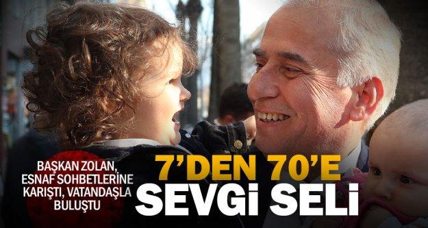 Gittiği yerlerde Başkan Osman Zolan'a sevgi seli