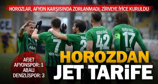 Horoz'un zirve inadı: Afyon'u 3 golle geçti