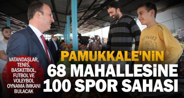 Pamukkale'de spor tesisi, mahallelinin ayağına gelecek