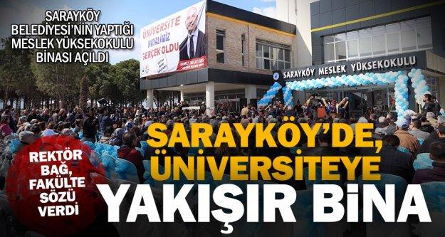 Sarayköy meslek yüksekokulunun yeni binası açıldı