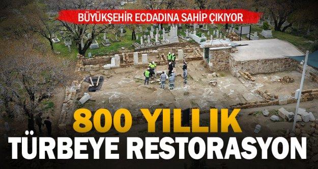 Selçuklu Komutanı Mehmet Gazi'nin türbesinde restorasyon başladı