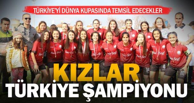 Servergazili kızlar futbolda Türkiye şampiyonu oldu