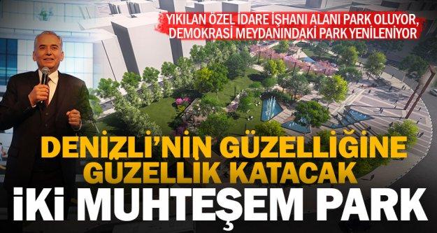 Yıkılan özel idare işhanı alanı park oluyor, Demokrasi Meydanındaki park yenileniyor