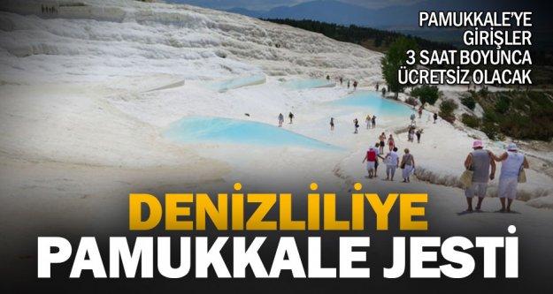 17 Nisan günü Pamukkale'ye girişler 3 saat boyunca ücretsiz