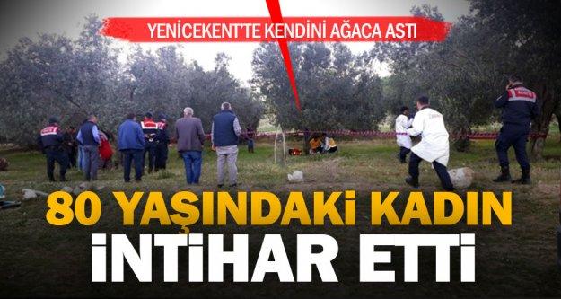 80 yaşındaki kadın kendini ağaca asarak intihar etti