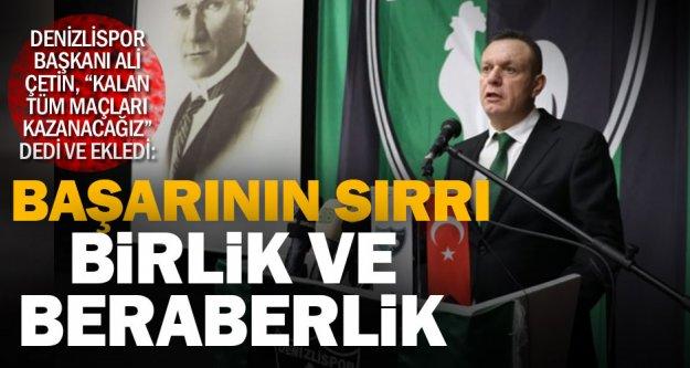 Denizlispor'da Başkan Çetin geri sayımda