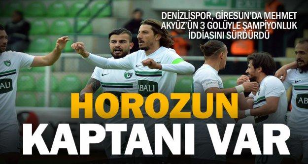 Horoz, Giresun'da kaptanla güldü: Giresunspor: 0 – Denizlispor: 3
